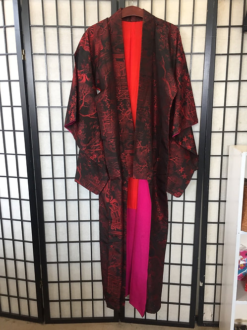 Kimono black and red