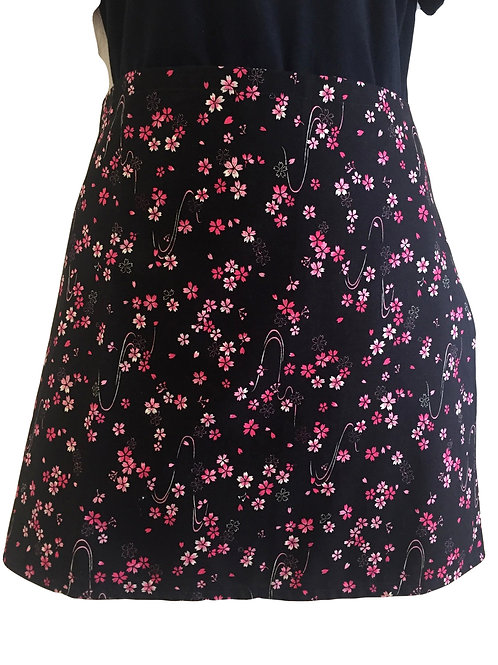 Wrap around skirt short black
