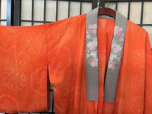 Kimono  Fine silk jyuban orange