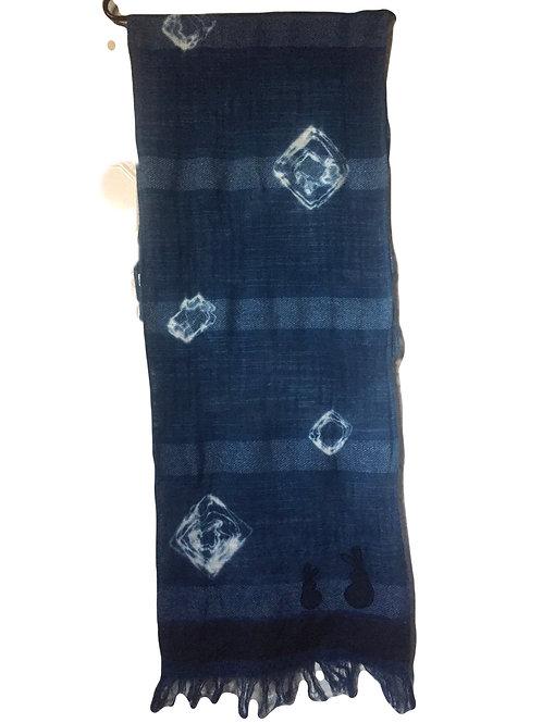 Shibori tie dye cotton scarf
