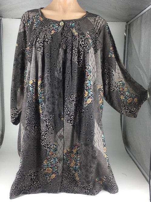 Medium Tunic Jacket style black patchwork