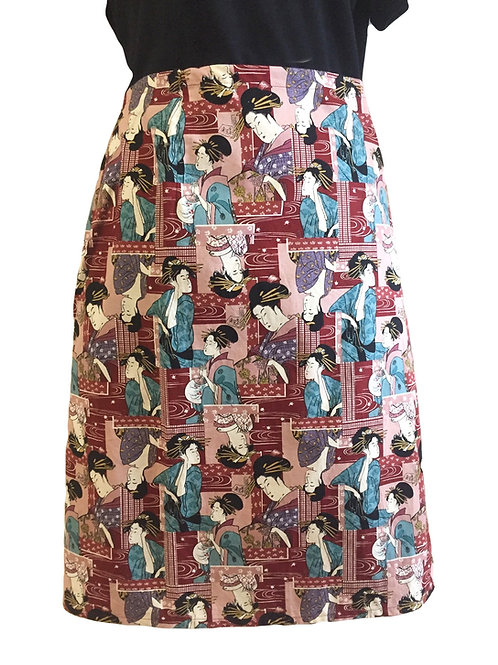 Wrap around skirt  medium length Geisha