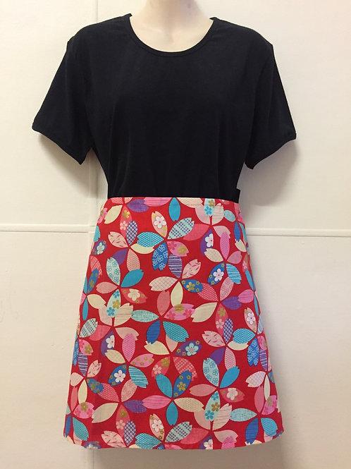 Wrap around skirt short red