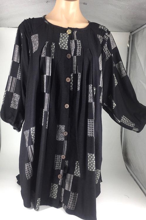 Medium Tunic Jacket style black rectangle