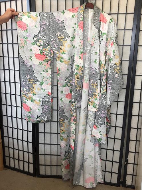 Kimono polyester furisode