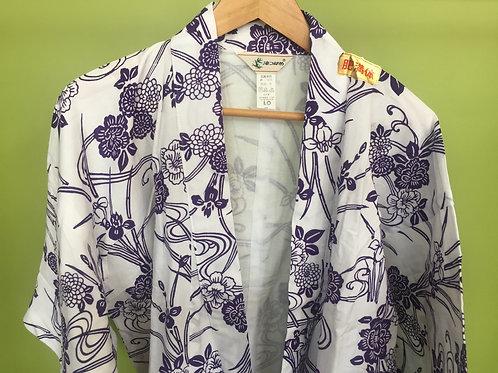 Cotton Kimono Yukata Purple