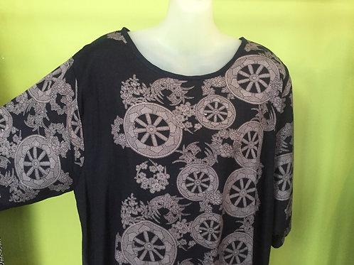 T shirt long black with wheels