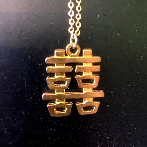 Necklace Good luck gold colour