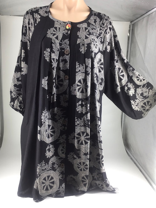 Medium Tunic Jacket style black with wheels