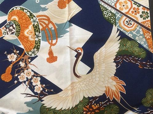 Fat quater Japanese crane vintage design