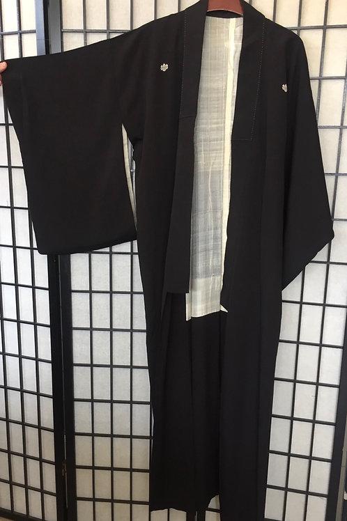 Kimono  black with family crest