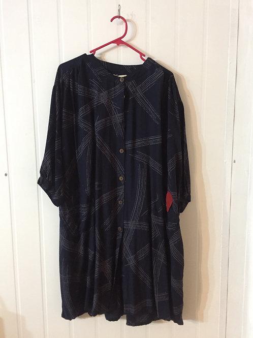 Long Tunic Jacket style line indigo