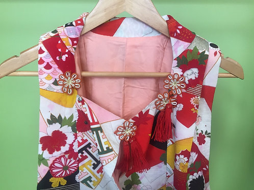 Girls kimono vest
