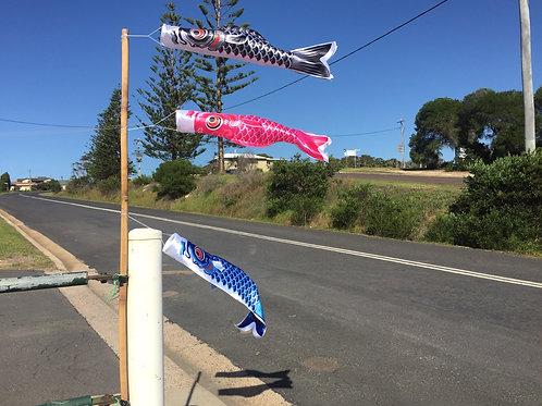 Fish wind Streamer Koinobori Black