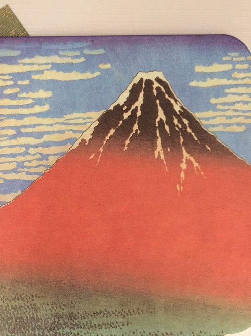 Card - Coaster. Red Fuji