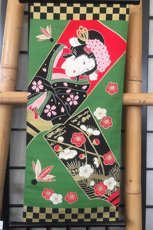 Tapestry geisha new year's scenes