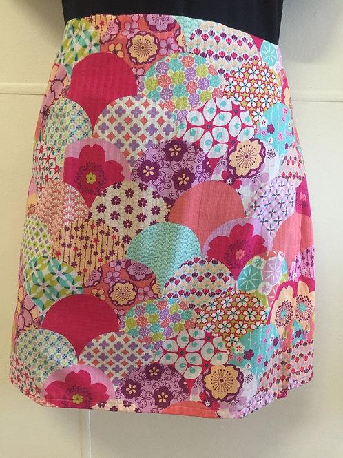Wrap around skirt  medium length pink
