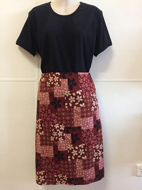 Wrap Around Skirt medium length brown