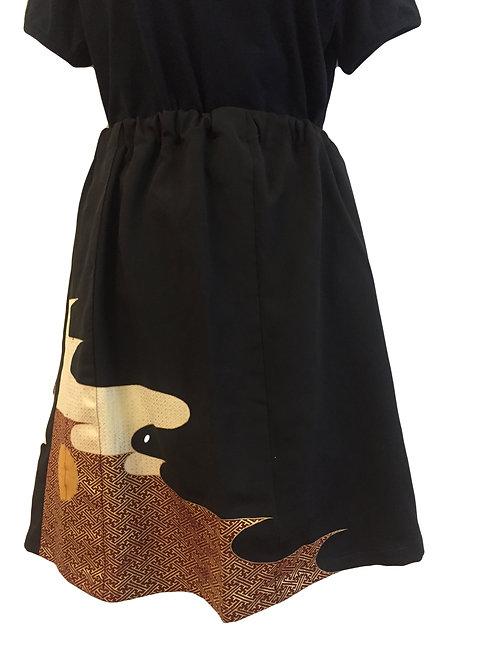 Skirt - Vintage kimono silk fabric