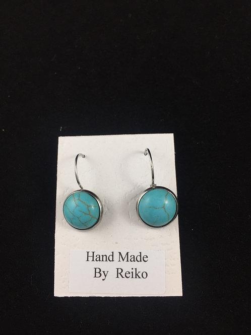 Earrings Resin turquoise