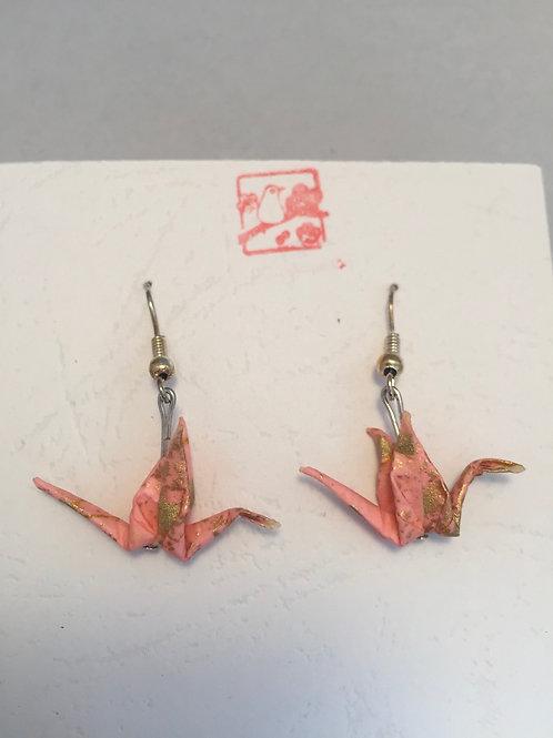 Japanese Crane Origami Earrings