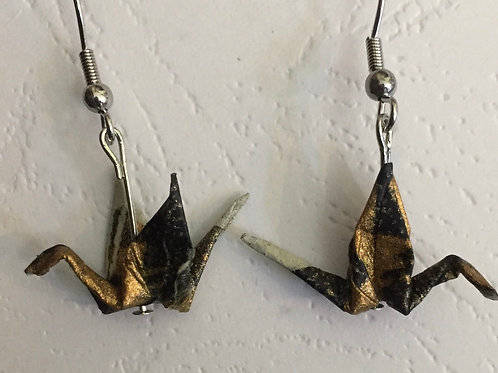 Japanese Crane earrings