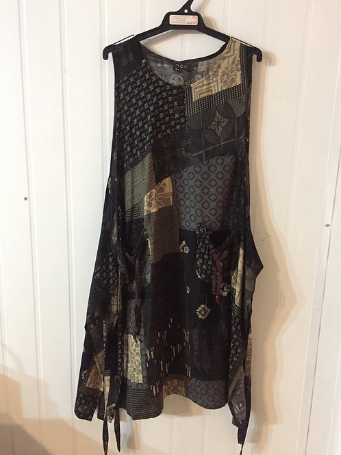 Pina fore brown/grey patchwork