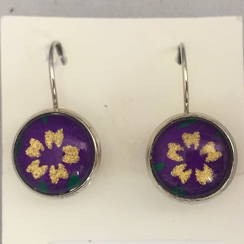 Earrings purple Cherry Blossom