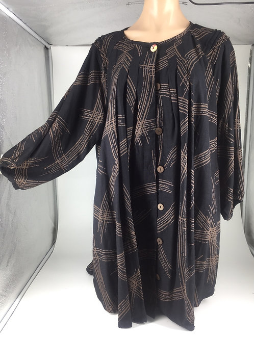 Medium tunic jacket style black with lines