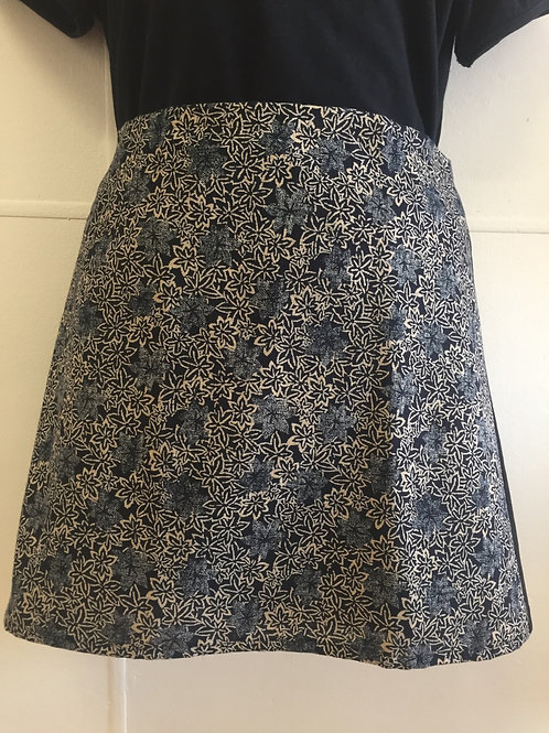Wrap around skirt short small indigo