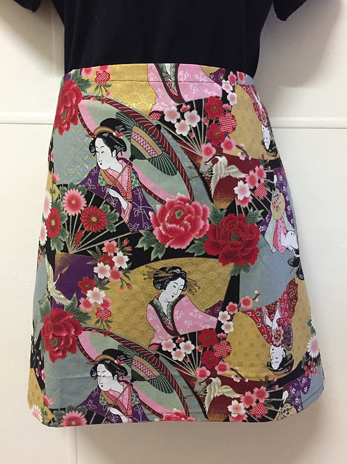 Wrap around skirt short Geisha