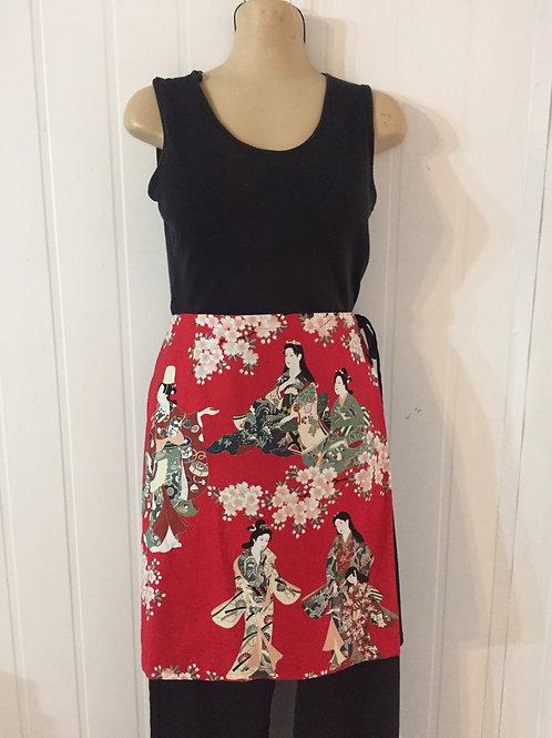 Wrap Around Skirt   Red Geisha