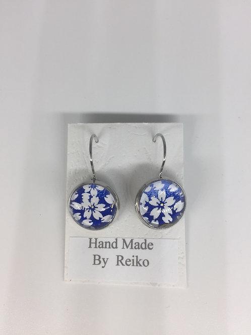 Earrings Blue Cherry Blossom