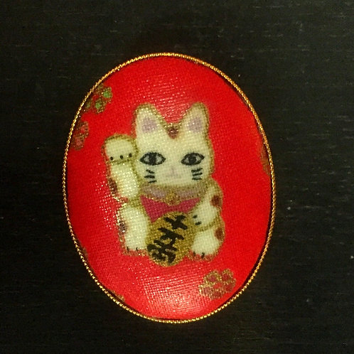 Brooch/Pendant Lucky Cat
