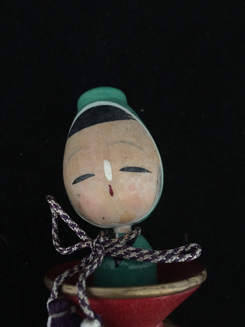 Kokeshi Doll Vintage small --- Charm to Prevent Fire
