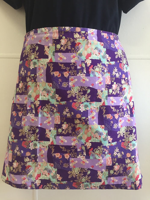Wrap around skirt short Purple