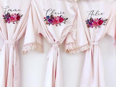 Vestaglie Bridal per il momento del trucco? Guarda su Etsy!