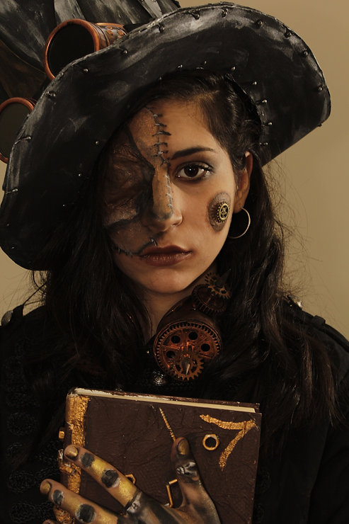 Steampunk bodypainting