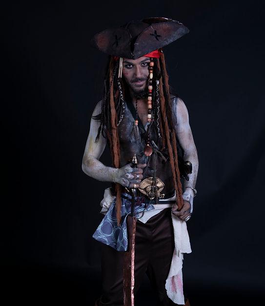 Jack Sparrow bodypainting