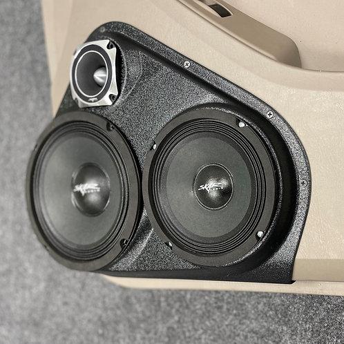 """Front Door  8"""",  6.5"""" and 3.5"""" Speaker Pods 03-09 Toyota 4Runner"""