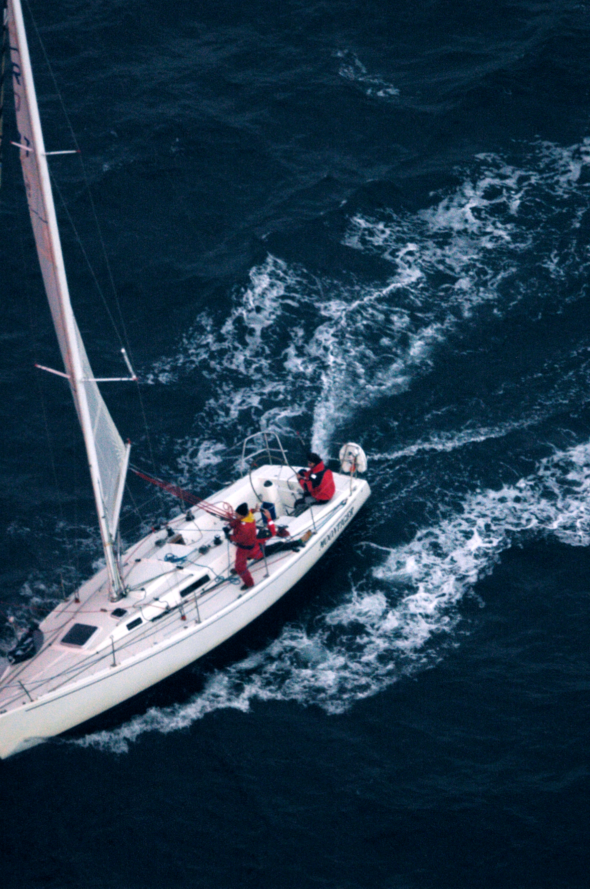 Route du Rhum, photo aérienne