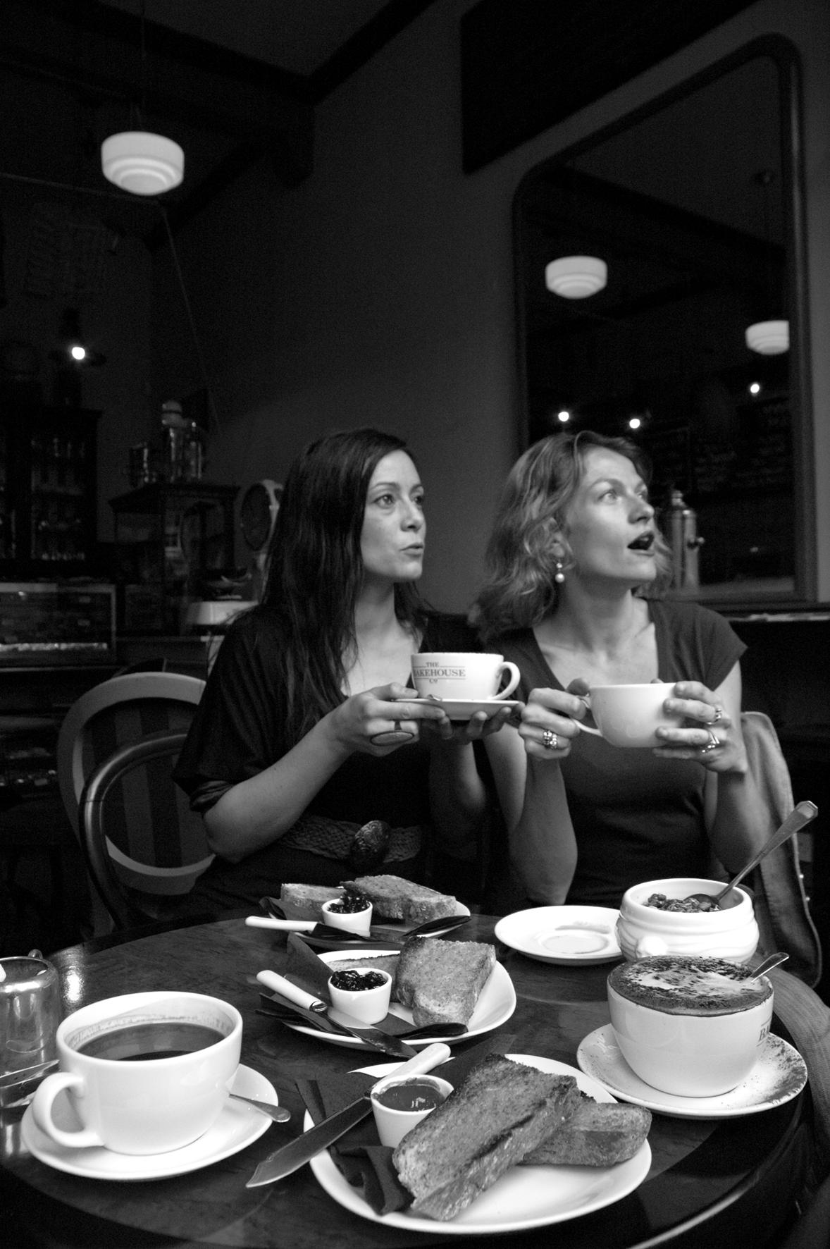 Sandrine, Magali, Edimbourg
