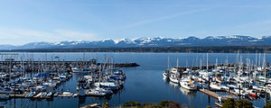 The beautiful Comox Bay and Marina