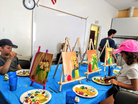 Acrylic with many easels.jpg