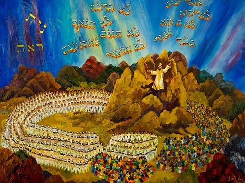Revelation on Mount Sinai, print