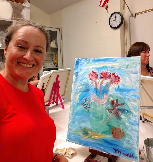Marina and her painting.jpg