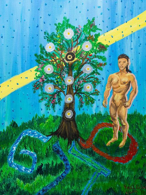 Creation of Adam, print
