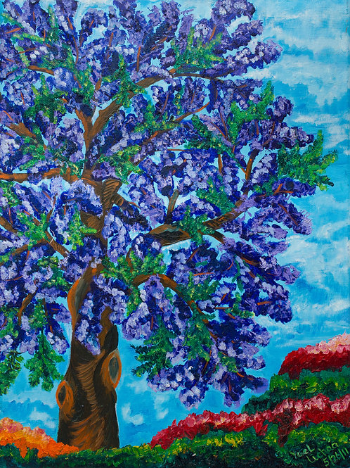 The Purple Tree of LA, print