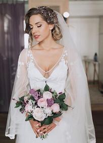 Real Bride Wearing Bespoke Katya Katya G