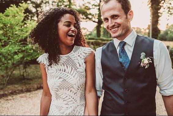 Real Bride Wearing Adeliade